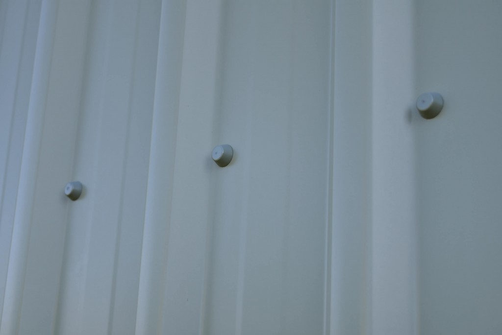 Armour rings installed on metal cladding